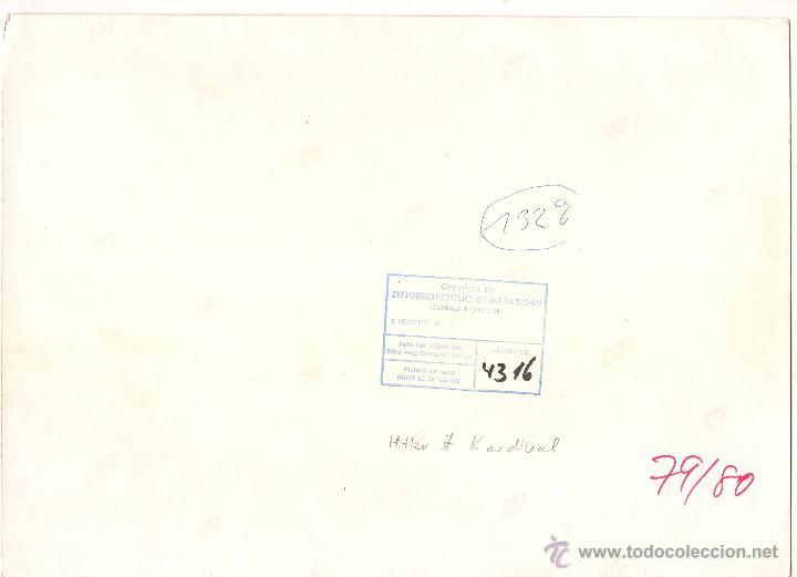Postales: HITLER EN RECEPCIÓN CON CARDENAL. FOTOGRAFÍA ORIGINAL DE PRENSA. MEDIDAS 29 X 21 CM. - Foto 2 - 52600511