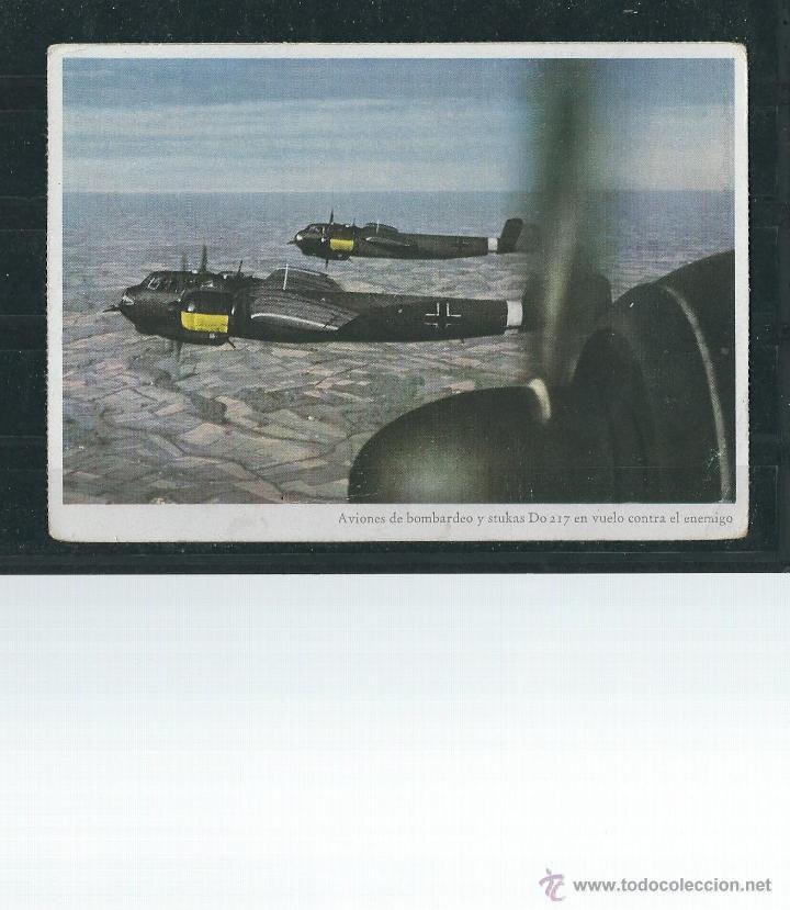 POSTAL MILITAR - AVIONES DE BOMBARDEO ALEMANES - STUKAS D0 217 EN VUELO - (Postales - Postales Temáticas - II Guerra Mundial y División Azul)