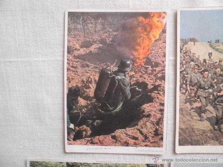 Postales: Lote de siete postales en color de la 2ª Guerra Mundial - Foto 2 - 53702923