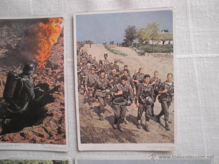 Postales: Lote de siete postales en color de la 2ª Guerra Mundial - Foto 3 - 53702923
