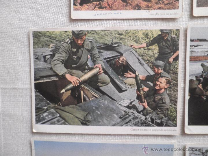Postales: Lote de siete postales en color de la 2ª Guerra Mundial - Foto 4 - 53702923