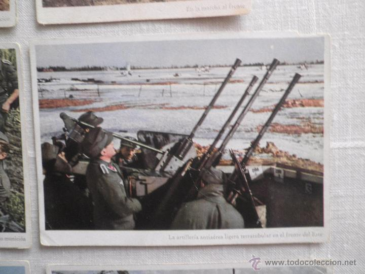 Postales: Lote de siete postales en color de la 2ª Guerra Mundial - Foto 5 - 53702923