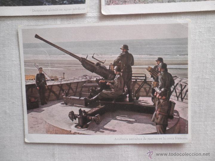 Postales: Lote de siete postales en color de la 2ª Guerra Mundial - Foto 8 - 53702923