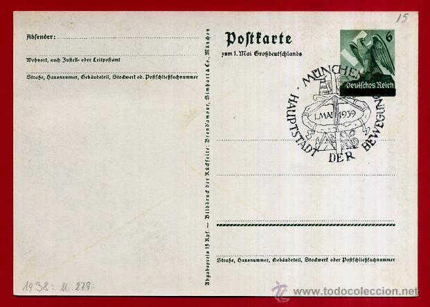 Postales: POSTAL ALEMANIA NAZI , ADOLF HITLER, II GUERRA MUNDIAL , ORIGINAL , ZZ15 - Foto 2 - 53767373