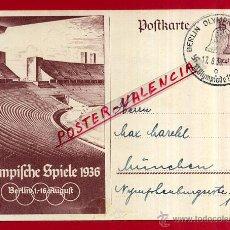 Postales: POSTAL ALEMANIA NAZI , ADOLF HITLER, II GUERRA MUNDIAL , 1936 , ORIGINAL , ZZ18. Lote 53767485