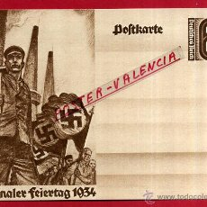 Postales: POSTAL ALEMANIA NAZI , ADOLF HITLER, II GUERRA MUNDIAL , 1934 , ORIGINAL , ZZ19. Lote 53767500