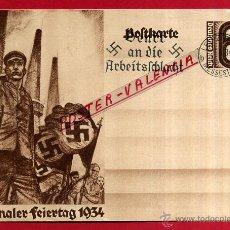 Postales: POSTAL ALEMANIA NAZI , ADOLF HITLER, II GUERRA MUNDIAL , 1934 , ORIGINAL , ZZ21. Lote 53767539