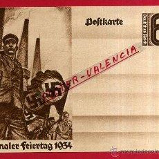 Postales: POSTAL ALEMANIA NAZI , ADOLF HITLER, II GUERRA MUNDIAL , 1934 , ORIGINAL , ZZ22. Lote 53767549