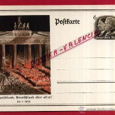 Postales: POSTAL ALEMANIA NAZI , ADOLF HITLER, II GUERRA MUNDIAL , 1933 , ORIGINAL , ZZ23. Lote 53767566
