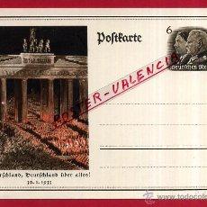 Postales: POSTAL ALEMANIA NAZI , ADOLF HITLER, II GUERRA MUNDIAL , 1933 , ORIGINAL , ZZ24. Lote 53767576