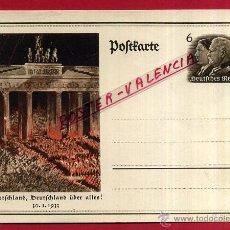 Postales: POSTAL ALEMANIA NAZI , ADOLF HITLER, II GUERRA MUNDIAL , 1933 , ORIGINAL , ZZ25. Lote 53767581