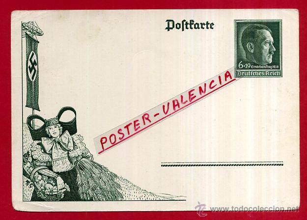 POSTAL ALEMANIA NAZI , ADOLF HITLER, II GUERRA MUNDIAL , ORIGINAL , ZZ28 (Postales - Postales Temáticas - II Guerra Mundial y División Azul)