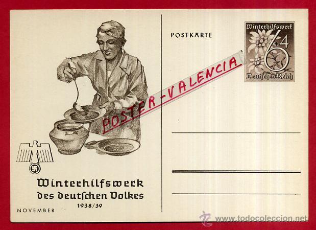 POSTAL ALEMANIA NAZI , ADOLF HITLER, II GUERRA MUNDIAL , ORIGINAL , ZZ45 (Postales - Postales Temáticas - II Guerra Mundial y División Azul)