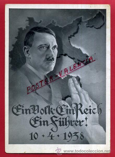 POSTAL ALEMANIA NAZI , ADOLF HITLER, II GUERRA MUNDIAL , ORIGINAL , ZZ55 (Postales - Postales Temáticas - II Guerra Mundial y División Azul)