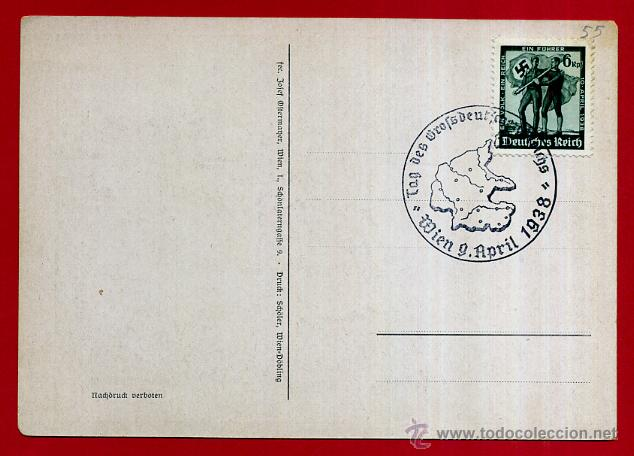 Postales: POSTAL ALEMANIA NAZI , ADOLF HITLER, II GUERRA MUNDIAL , ORIGINAL , ZZ55 - Foto 2 - 53768156