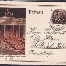 Postales: POSTAL PROPAGANDA GOBIERNO ALEMAN NACIONAL SOCIALISTA . Lote 56297220