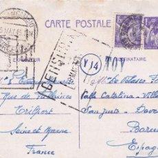 Postales: CENSURA 1945. Lote 56677226