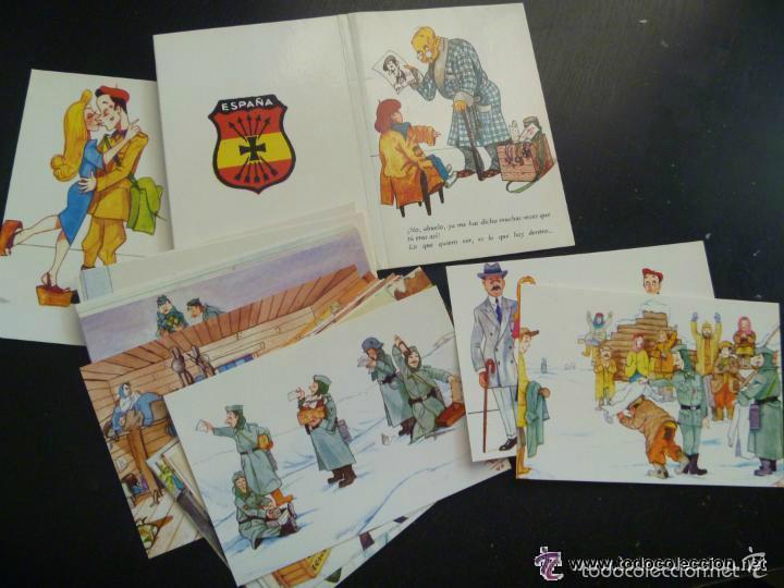 COLECCION 20 POSTALES DIVISION AZUL , DIBUJOS DE UN DIVISIONARIO Y EDITADAS POR LA HERMANDAD (Postales - Postales Temáticas - II Guerra Mundial y División Azul)