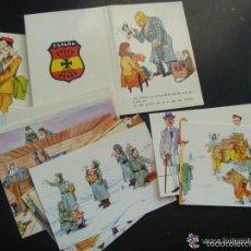 Postales: COLECCION 20 POSTALES DIVISION AZUL , DIBUJOS DE UN DIVISIONARIO Y EDITADAS POR LA HERMANDAD. Lote 56805614