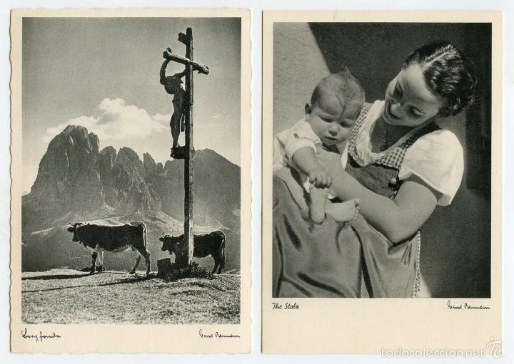 Postales: 4 postales alemanas recuerdos de divisionario - Foto 2 - 57581270