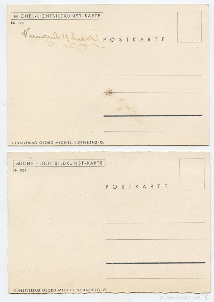 Postales: 4 postales alemanas recuerdos de divisionario - Foto 3 - 57581270