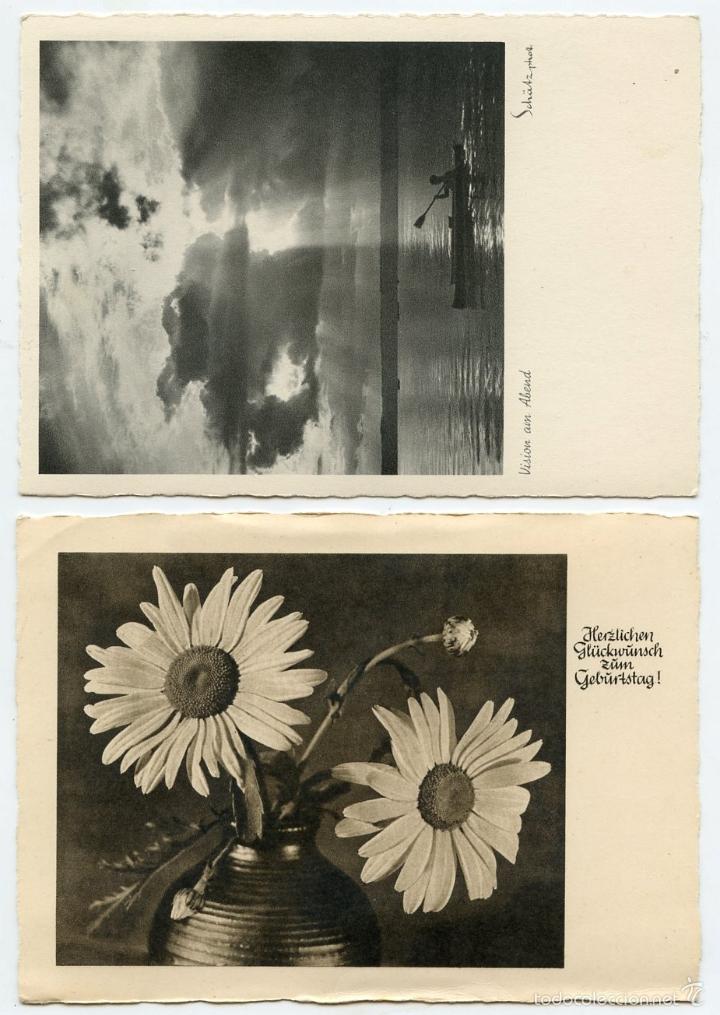 Postales: 4 postales alemanas recuerdos de divisionario - Foto 4 - 57581270