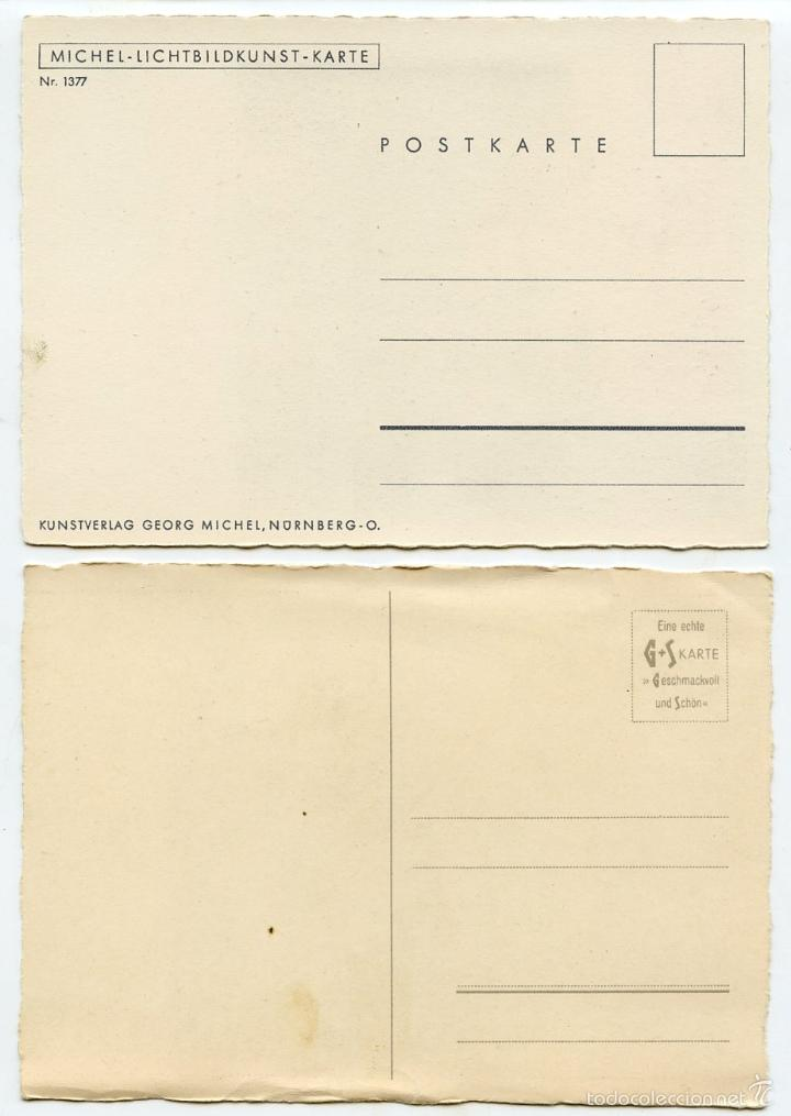 Postales: 4 postales alemanas recuerdos de divisionario - Foto 5 - 57581270