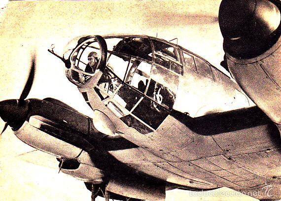 POSTAL DE AVIÓN ALEMAN - - POSTAL ALEMANA - ALEMANIA SEGUNDA GUERRA MUNDIAL (Postales - Postales Temáticas - II Guerra Mundial y División Azul)