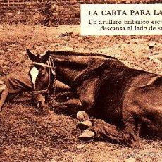 Postales: POSTAL CARTA A LA FAMILIA ARTITELLO INGLES ESCRIBE JUNTO A SU CABALLO -2ª GUERRA MUNDIAL. Lote 57972827