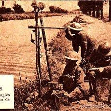 Postales: POSTAL PUESTO INGLES HACIENDO SEÑALES VISUALES MARGEN DEL CANAL -2ª GUERRA MUNDIAL. Lote 57972888