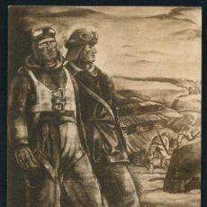 Postales: II GUERRA MUNDIAL, POSTAL ITALIANA, L´AVIATORE ED IL CARRISTA, 1942. Lote 58018131