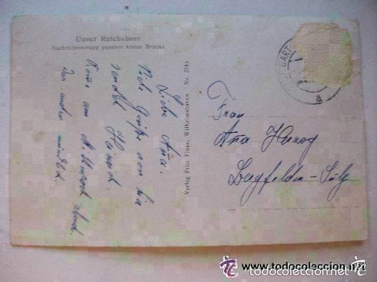 Postales: POSTAL EJERCITO ALEMANIA NAZI, II ª GUERRA MUNDIAL : SOLDADOS ALEMANES CRUZANDO UN PUENTE. CIRCULADA - Foto 2 - 58383224