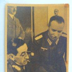 Postales: POSTAL DE LA DIVISION AZUL : EL GENERAL MUÑOZ GRANDE Y TENIENTE CORONEL ROMERO MAGARIEGOS. Lote 62170876