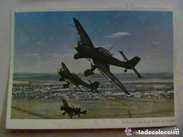 POSTAL DEL EJERCITO ALEMAN : AVIACION , AVION STUKA JU 88 . PROPAGANDA NAZI PARA PORTUGAL (Postales - Postales Temáticas - II Guerra Mundial y División Azul)