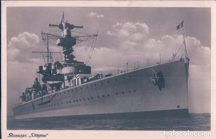 POSTAL ANTIGUA BUQUE DE GUERRA (Postales - Postales Temáticas - II Guerra Mundial y División Azul)