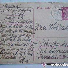 Postales: POSTKARTE . CORREO ALEMAN DE GUERRA , ENTERO POSTAL CON SELLO DE ADOLF HITLER IMPRESO. 1945.. Lote 69743489