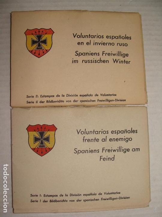 PROPAGANDA DIVISIÓN AZUL. VOLUNTARIOS ESPAÑOLES INVIERNO RUSO. SERIE I Y II. 24 POSTALES. (Postales - Postales Temáticas - II Guerra Mundial y División Azul)