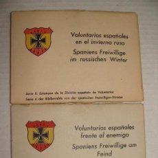 Postales: PROPAGANDA DIVISIÓN AZUL. VOLUNTARIOS ESPAÑOLES INVIERNO RUSO. SERIE I Y II. 24 POSTALES.. Lote 70976861