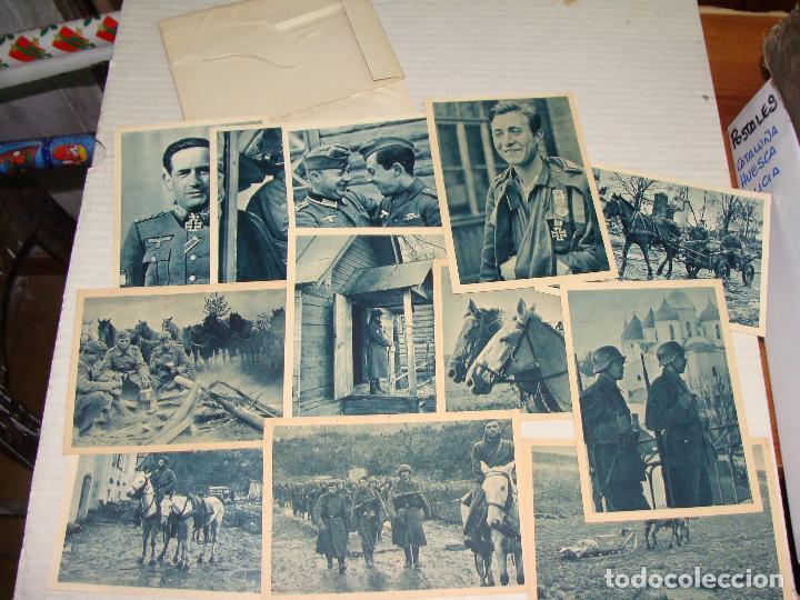 Postales: PROPAGANDA DIVISIÓN AZUL. VOLUNTARIOS ESPAÑOLES INVIERNO RUSO. SERIE I y II. 24 POSTALES. - Foto 2 - 70976861