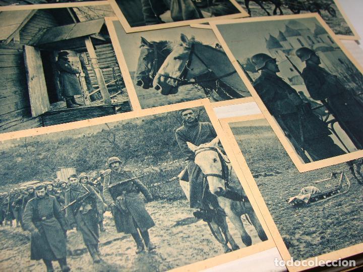 Postales: PROPAGANDA DIVISIÓN AZUL. VOLUNTARIOS ESPAÑOLES INVIERNO RUSO. SERIE I y II. 24 POSTALES. - Foto 3 - 70976861