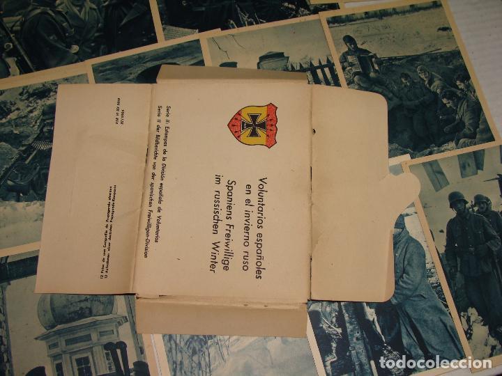 Postales: PROPAGANDA DIVISIÓN AZUL. VOLUNTARIOS ESPAÑOLES INVIERNO RUSO. SERIE I y II. 24 POSTALES. - Foto 7 - 70976861