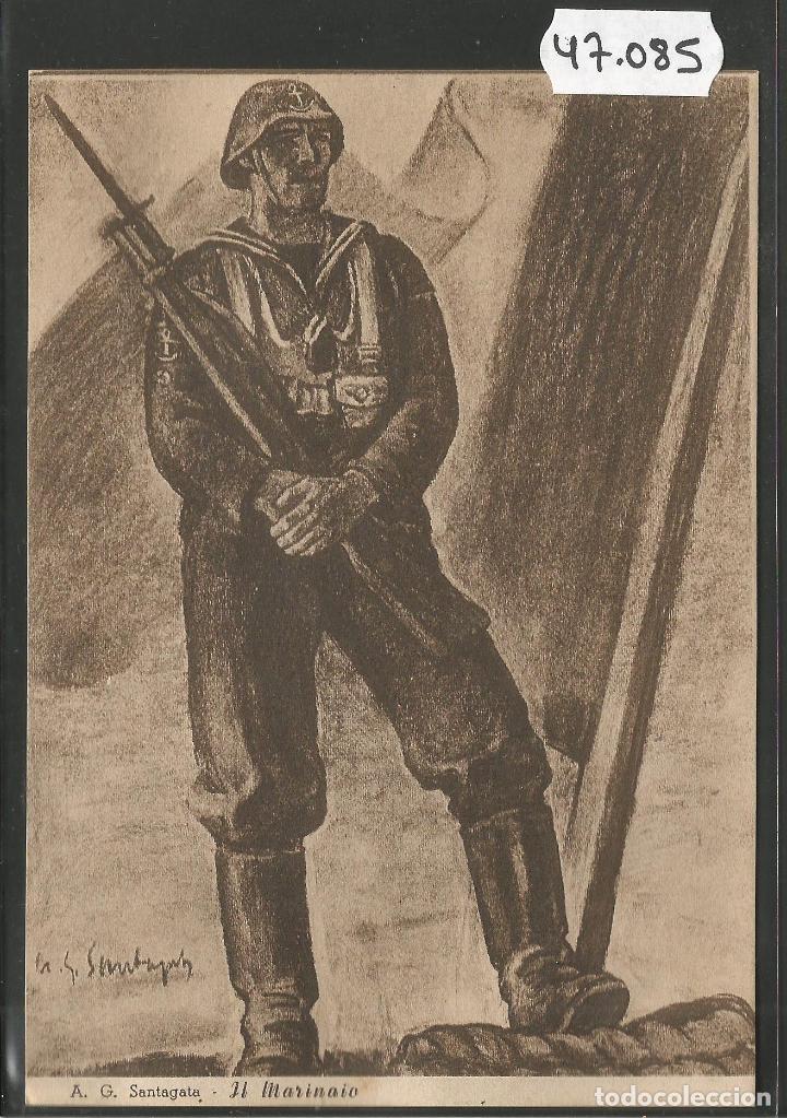 POSTAL ASOCIZIONE NAZIONALE MUTILATI E INVALIDI GUERRA -VER REVERSO -(47.085) (Postales - Postales Temáticas - II Guerra Mundial y División Azul)