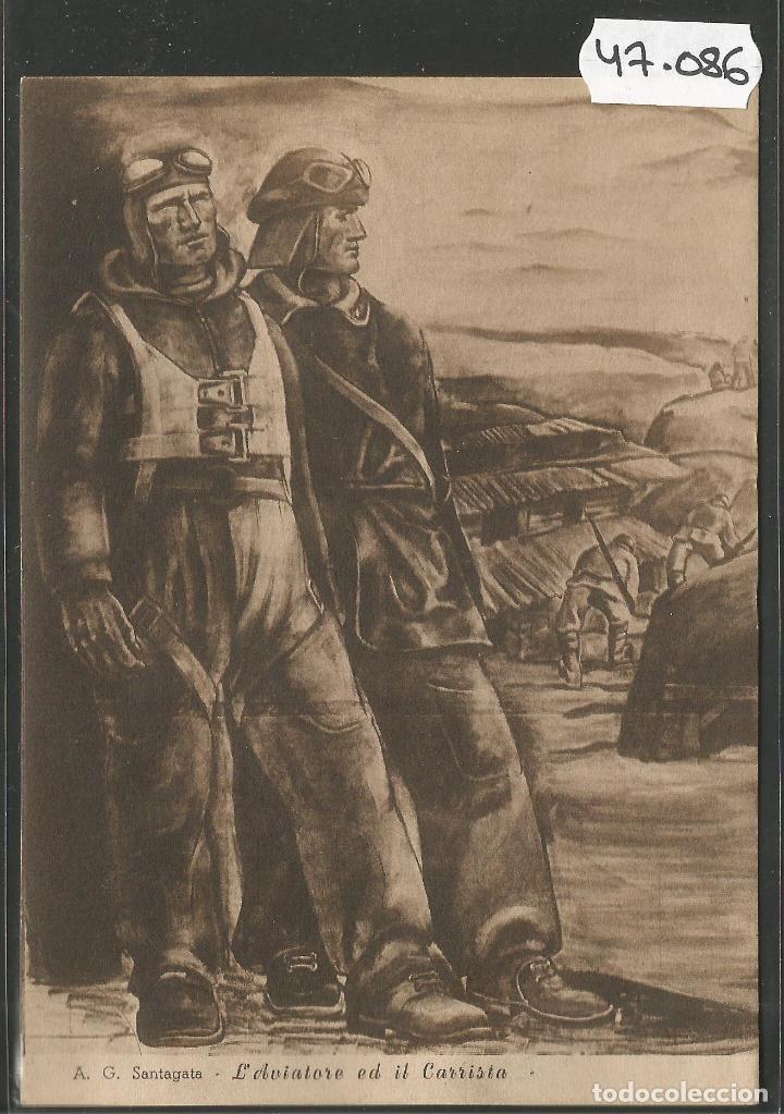 POSTAL ASOCIZIONE NAZIONALE MUTILATI E INVALIDI GUERRA -VER REVERSO -(47.086) (Postales - Postales Temáticas - II Guerra Mundial y División Azul)
