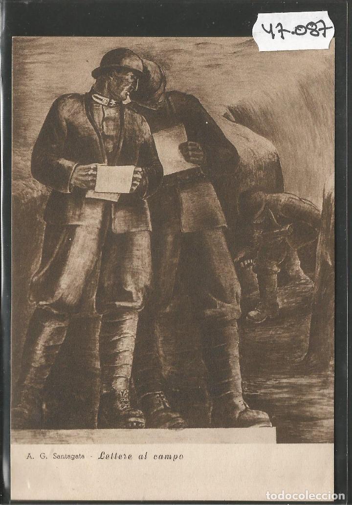 POSTAL ASOCIZIONE NAZIONALE MUTILATI E INVALIDI GUERRA -VER REVERSO -(47.087) (Postales - Postales Temáticas - II Guerra Mundial y División Azul)