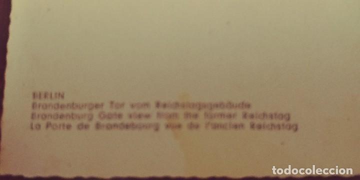 Postales: postal de berlin antigua La puerta de brandebourg vista del antiguo reichstag s/c - Foto 3 - 90713285