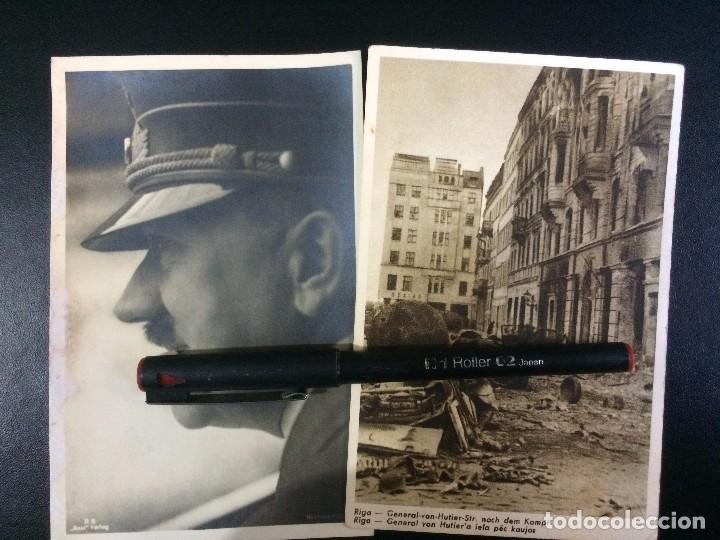 TARJETAS POSTALES - DIVISIÓN AZUL - RIGA - HITLER (Postales - Postales Temáticas - II Guerra Mundial y División Azul)