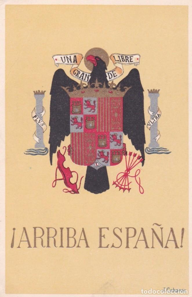 TARJETA POSTAL ARRIBA ESPAÑA (Postales - Postales Temáticas - II Guerra Mundial y División Azul)