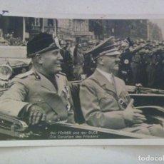Postales: POSTAL DE LA ALEMANIA NAZI : VISITA DEL DUCE A BERLIN. RECUERDO DE LA DIVISION AZUL. Lote 98867923