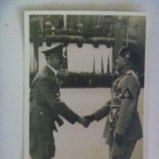 Postales: POSTAL DE LA ALEMANIA NAZI : VISITA DEL DUCE A BERLIN. RECUERDO DE LA DIVISION AZUL. Lote 98907291