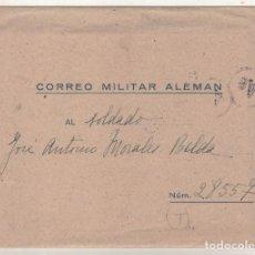 Postales: CORREO MILITAR ALEMÁN. DIVISIÓN AZUL. CENSURA GUBERNATIVA MADRID. EXENTO DE FRANQUEO. CON CARTA.. Lote 100505447